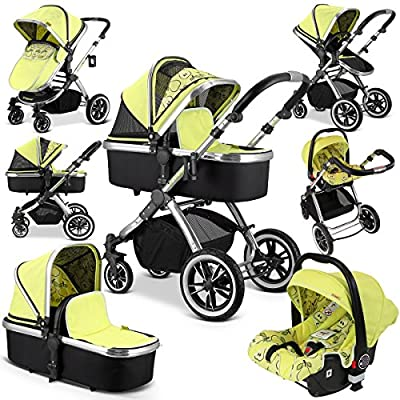 iVogue - Pear Luxury 3in1 Pram Stroller Travel System by iSafe (Complete with Carseat)  iSafe