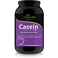 Natures Velvet Lifecare 100% Casein Protein, Vegetarian and Natural, 1000 gms - Pack of 1