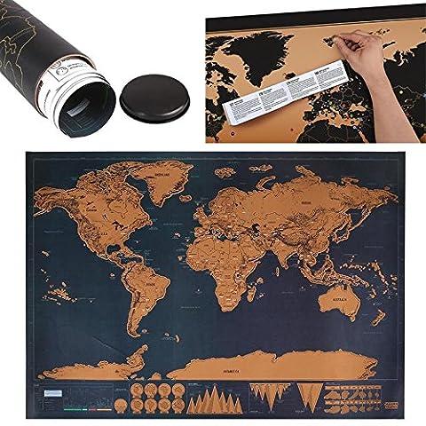 tiptiper Travel Edition Scratch Off Weltkarte Poster perfekt für Reisende Explorers und lehrreich für Kinder