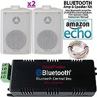 Smart Home Bluetooth Verstärker U0026 2 X Weiß Wand Montiert Lautsprecher Set U2013  Kompakte