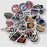 30 NBA Équipe Autocollants Autocollants Valise Autocollants Trolley Case Valise Autocollants Guitare Planche À roulettes Portable Étanche