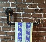 HHY-Vintage Wasserleitung Handtuchhalter/Alt/Bügeleisen/Wand/Dekoration Storage Rack, schwarz