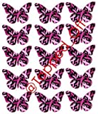 15 x Large Pink Ribbon Butterflies For Breast Cancer Awareness - Cupcake Toppers/Decorations by Topped Off (FREE UK SHIPPING)