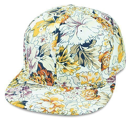 Sense42 Snapback Floral All-Over-Print Design Flat Cap Bill Hip Hop Kappe Blumen