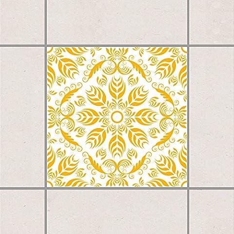 Adesivo per piastrelle - Rosamunde Bianco Melone Giallo 10 x 10 cm, Setgröße:20teilig