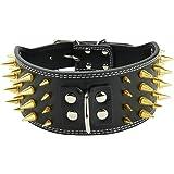 Collare Borchie Cane Collare regolabile con borchie a spillo regolabile in pelle 4 file Collari per cani con collare a collar