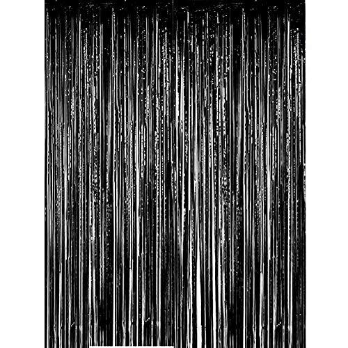 nvorhänge Fransen, 1 m x 3 m, glänzendes Metallic-Lametta-Vorhang für Neujahr, Fotokabine, Türvorhang, perfekt für Geburtstag, Hochzeit, Weihnachten, Party-Dekorationen ()