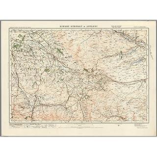 Kirkby Stephen & Appleby-ORDNANCE Survey von England und Wales 1920Serie-Größe 73x 100cm