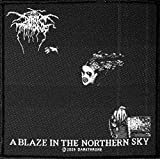 DARKTHRONE Aufnäher A BLAZE IN THE NORTHERN SKY Patch gewebt 10 x 10 cm