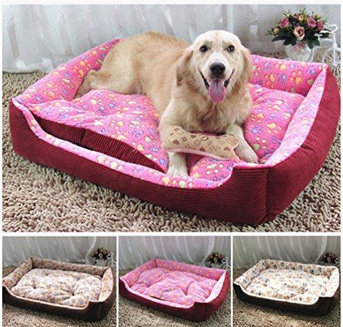 Hianiquaime luxury cozy peluche cane cuccia doppio uso morbida calda gatto sofa con cuscino sfoderabile lavabile pet letto rettangolare per taglia piccola media cuccioli cani gatti conigli rosa l