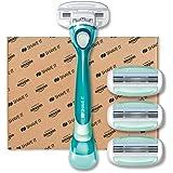 Shave It - rasoio a 3 lame donna, con manico e 4 testine