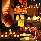 AMIR LED Kerzen, 12 LED Flammenlose Kerzen, Weihnachten LED Teelichter, Elektrische Teelichter Kerzen für Halloween, Weihnachten, Party, Bar, Hochzeit ( Flicker Gelb) Vergleich