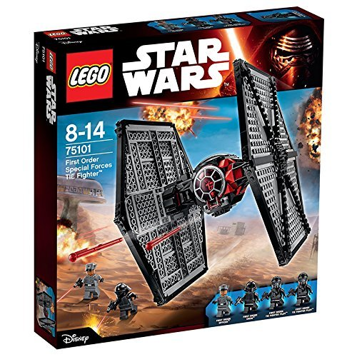 LEGO Star Wars - Pack de 4 minifiguras 2 First Order TIE Fighter Pilots, First Order Officer, First Order Crew (75101)