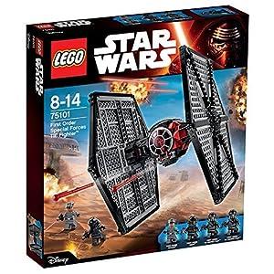 LEGO Star Wars - Pack de 4 minifiguras 2 First Order TIE Fighter Pilots, First Order Officer, First Order Crew (75101)