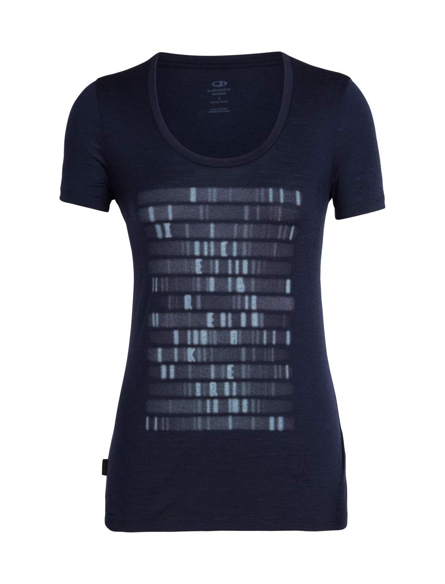 61OjgYIMztL - Icebreaker Women's Tech Lite Ss Scoop Sequence T-Shirt