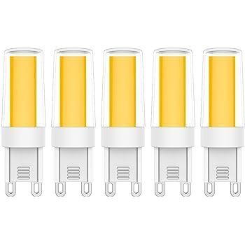 5X G9 Bombillas LED 4W LED Bulb Blanco Cálido 3000K Lámpara LED COB Bombilla Lámpara 400LM Equivalente a Halógenas 40W AC220-240V