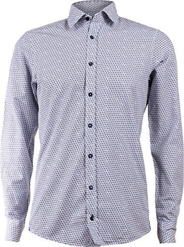 Preisvergleich Produktbild Joop! Herren Business Hemd Hanson - Modern Fit - Weiß bedruckt, Größe:XXL;Farbe:Weiß (435)