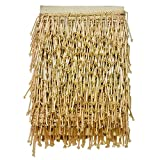 #1: Eerafashionicing 9.5mtr Golden Tessals Laces for Dresses, Sarees, Lehenga, Suits, Bags, Decorations, Borders, Crafts
