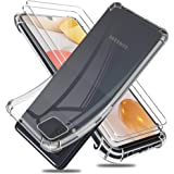 Reshias Funda para Samsung Galaxy A42 5G con Dos Cristal Templado Protector de Pantalla, Suave TPU Transparente Gel Silicona