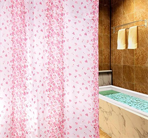 PLYY Polyester Fabric Shower Curtain No Hardening In Winter Non Toxic Smelling