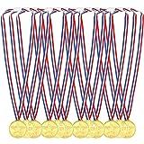 Pllieay 36 Piezas Oro Medallas Niños Medallas de Plastico Winner Medallas para Fiesta, Niños Fiesta Deportiva, Premio, Competencia