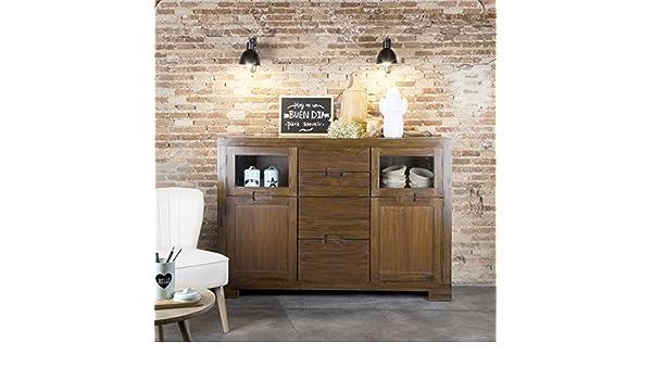 Banak twins credenza legno 160x43x110 cm colore teak: amazon