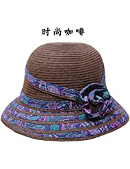 POLKI Sombreros Sombreros Playa Damas macetas de plegado de tapa sombrero de paja