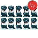 MyOma Günstige Wolle * 10x Schachenmayr Wolle Argentina* Wolle Set Günstig - 80% Reduziert - Restposten Wolle mit 10x Tannengrün (Fb 86) + Gratis Label - Wolle Reduziert – Restposten Wolle Stricken