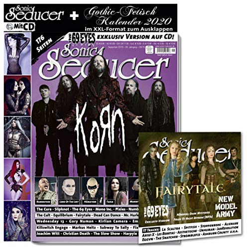 Sonic Seducer 09-2019 + Korn Titelstory + Gothic-Fetisch Kalender 2020 +  17-Track-CD mit New Model Army und exklusiver Song-Version von The 69 Eyes