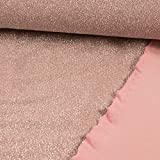 Stoffe Werning Lurexjersey Glitzer uni rosa -Preis gilt für 0,5 Meter-