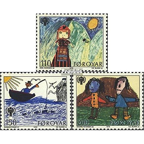 Danimarca-Isole Faroe 45-47 (completa.Problema.) 1979 Anno di Kindi (Francobolli )