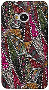 Timpax Light Weight One-piece construction Hard Back Case Cover Printed Design : Triangles of love.Exclusively Design For : HTC-M7 ( M-Seven)