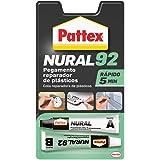 Pattex Nural 92 Pegamento reparador de plásticos, cola transparente para reparar y pegar plástico, rápida y resistente a líqu