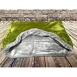 Snuggle saco/saco de dormir/mascotas cama para gatos o perros por Pet verde y gris de la Lola