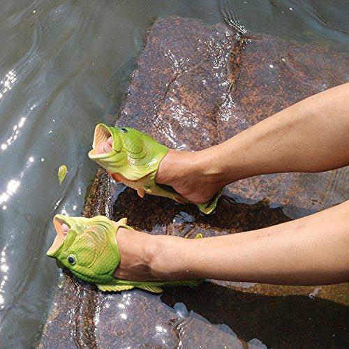 Oasap Herren Damen Besondere Fisch Strand Slippers Flip Flops Anti-Rutsch Hausschuhe - 5