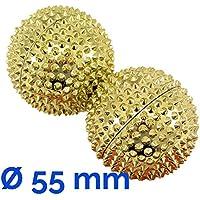AFH-Webshop 631504-01 Magnet Akupunktur Massage Kugeln, circa 55 mm Durchmesser, gold, 2er Set preisvergleich bei billige-tabletten.eu
