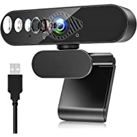 Webcam , Webcam per PC con Microfono 1080P con Video Camera USB 2.0 per Laptop, Desktop, Smart TV per Videochiamate…
