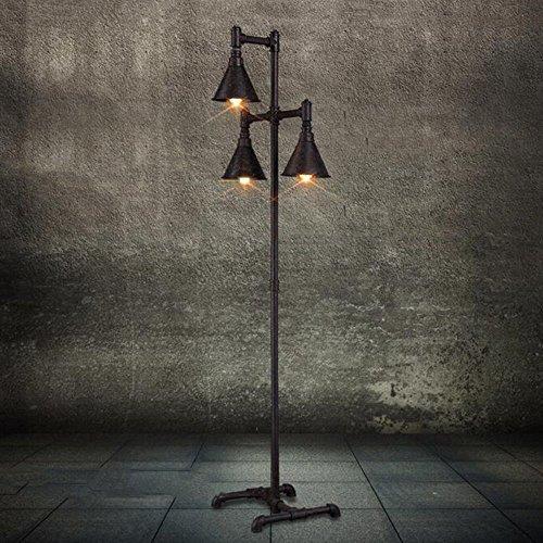HOMEE Stehlampe Serie im europäischen Stil nordic american village Industrie Wind Kunst Stehlampe Wohnzimmer Nacht Schlafzimmer Studie retro Wasserrohr Stehlampe - retro Stehlampe (Baum-form-kaffee-tische)