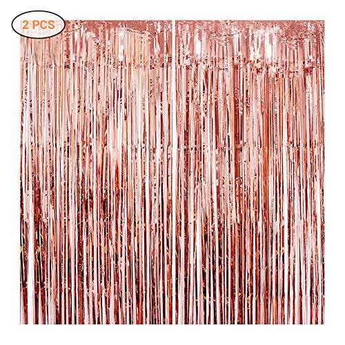 Surenhap 2 Piezas Foil Fringe Curtain Cortina