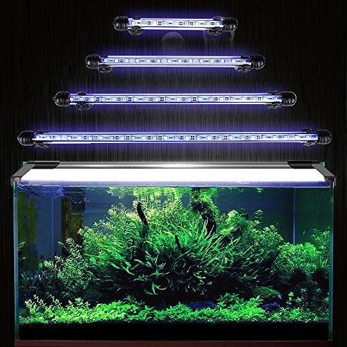 GreenSun Aquarium LED Beleuchtung Leuchte Lampe 27 LEDs 5050SMD 48CM Lighting für Fisch Tank EU Stecker Blaulicht Wasserdicht