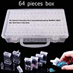 64 Grids Diamond Embroidery Box, Womdee Diamond Painting Box Storage Case for Diamond Painting Rhinestone, Mosaic Kits...