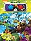 Mein 3D-Malbuch - Teenage Mutant Ninja Turtles: Ausmalen, Brille aufsetzen, staunen. Mit farbigen Seiten - .