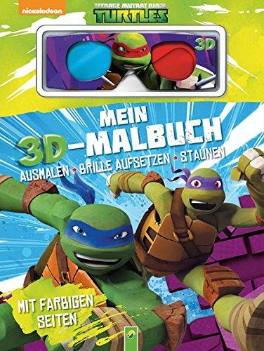 Mein 3D-Malbuch - Teenage Mutant Ninja Turtles: Ausmalen, Brille aufsetzen, staunen. Mit farbigen (Turtle Michaelangelo Ninja)