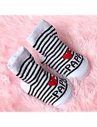 Calcetines de rayas para recién nacido, diseño de amor ...