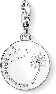 Thomas Sabo Damen Charm-Anhänger Pusteblume Wishes Come True 925 Sterling Silber 1457-051-21