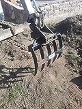 Rastrillo para mini excavadora de 5púas, Excavadora grabación ms01von Joma de Tech Roder echen, raíz Rastrillo, cultivo excavadora
