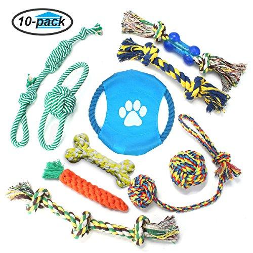 Focuspet 10 Stück Hundespielseil Hundespielseil Hundespielzeug Spielzeug für Hunde und Haustiere