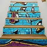3D Wandtattoo Wandtattoo Schlafzimmer Wandstickerneue Moderne Graffiti, Wandtreppe, Dekoratives Gebäude, Kreative Selbstklebende Wandaufkleber 3D Leiter Diy