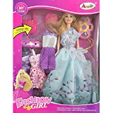 GRAPPLE DEALS Girl's Fashion Princess Doll with Dresses and Accessories (Multicolour)