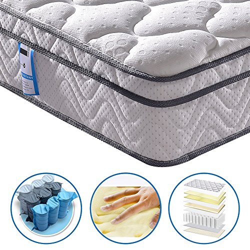 Vesgantti 10.3 Inch Box Top Luxury 4FT6 Double Pocket Sprung and Memory Foam Mattress / Ergonomic Design Orthopaedic Mattress - More Sizes Available